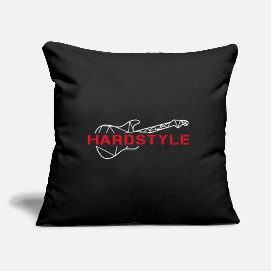 "Jumpstyle Pillow Cases - Hardstyle guitar - Throw Pillow Cover 18"" x 18"" black"