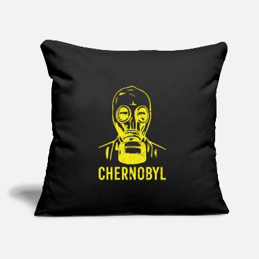"Gas Chernobyl radiation gask mask reactor gift - Throw Pillow Cover 18"" x 18"""