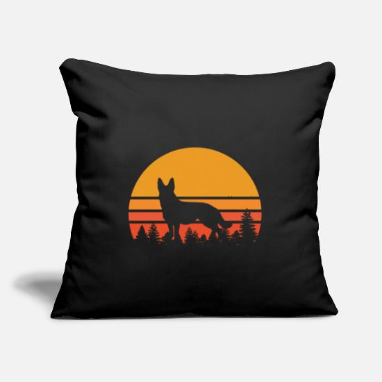 "Gift Idea Pillow Cases - Shepherd dog breed dogowner gift - Throw Pillow Cover 18"" x 18"" black"