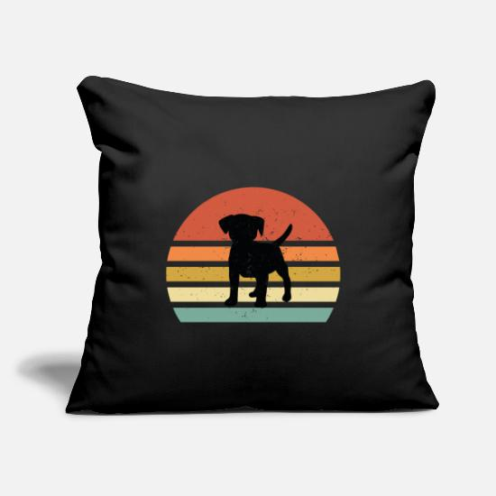 "Owner Pillow Cases - Dog beagle breed owner gift - Throw Pillow Cover 18"" x 18"" black"