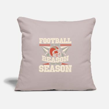 "Over Football Season - Throw Pillow Cover 18"" x 18"""