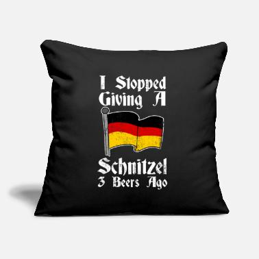 "Mass I Stopped Giving A Schnitzel 3 Beers Ago - Throw Pillow Cover 18"" x 18"""
