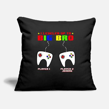 "Siblings I Leveled Up To Big Bro - Throw Pillow Cover 18"" x 18"""