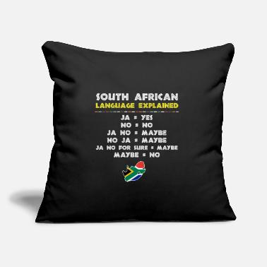 "South Africa South African Language Explained Funny Guide - Throw Pillow Cover 18"" x 18"""