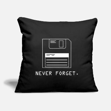 "Floppy Disk Never Forget Never Forget - Throw Pillow Cover 18"" x 18"""