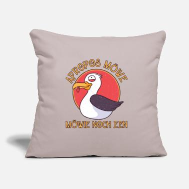 "North Sea Plattdeutsch - Apropros Seagull Möwie Noch Een - Throw Pillow Cover 18"" x 18"""