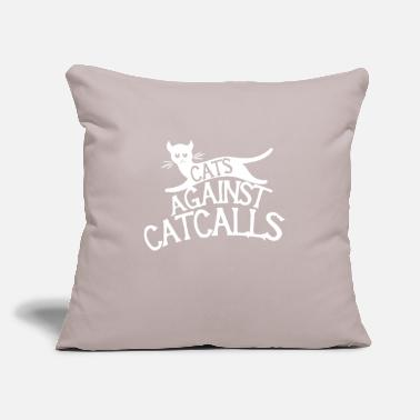 "Against Cats Against Catcalls - Throw Pillow Cover 18"" x 18"""