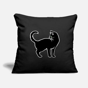 "Black Cat Black Cat - Throw Pillow Cover 18"" x 18"""