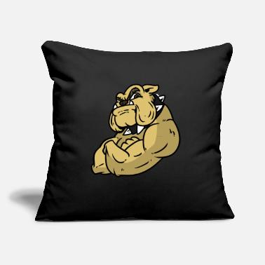 "Masculinity Masculine Bulldog - Throw Pillow Cover 18"" x 18"""