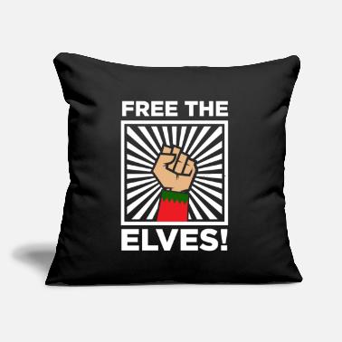 "Elves Free The Elves - Throw Pillow Cover 18"" x 18"""