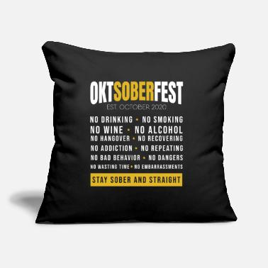 "Wheat Beer Funny German Oktoberfest No Drinking Beer Cerveza - Throw Pillow Cover 18"" x 18"""