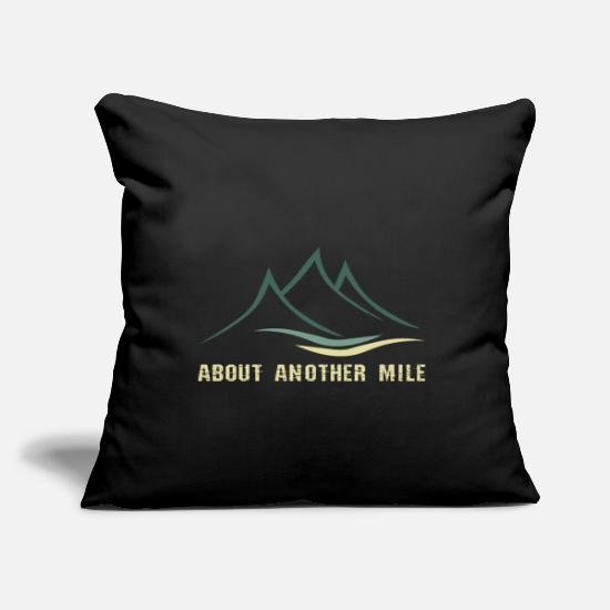 "Mountains Pillow Cases - Climber - Throw Pillow Cover 18"" x 18"" black"