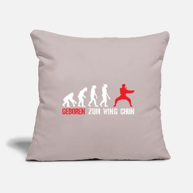 "Darwin Born for Wing Chun training - Throw Pillow Cover 18"" x 18"""