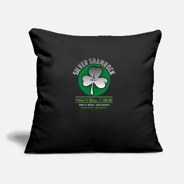 "Silver Silver Shamrock - Throw Pillow Cover 18"" x 18"""