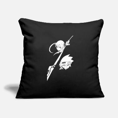 "Soul Maka and Soul - Throw Pillow Cover 18"" x 18"""