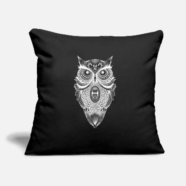 "Blatant Owl tshirt. Cartoon tshirt. Coffee t-shirt. - Throw Pillow Cover 18"" x 18"""