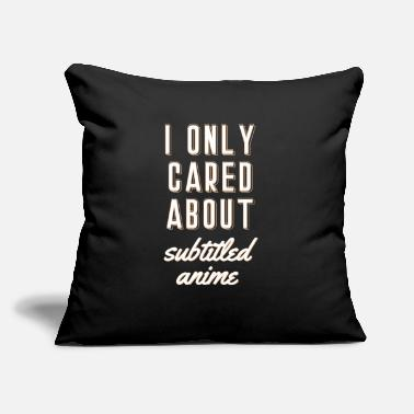 "Dub I only Cared about Subtitled Anime Japanese Vaporw - Throw Pillow Cover 18"" x 18"""