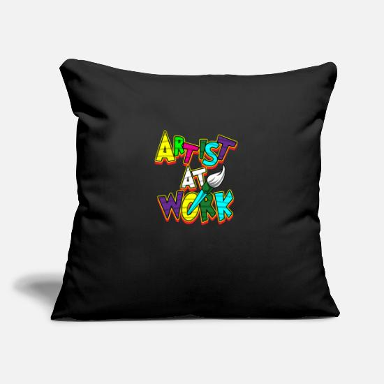 "College Pillow Cases - Artist Work Art Painter Artificer Creator Gift - Throw Pillow Cover 18"" x 18"" black"