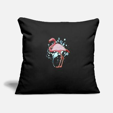 "Trend Animal Flamingo Pink Bird Animal Trend Flamingoe Gift - Throw Pillow Cover 18"" x 18"""