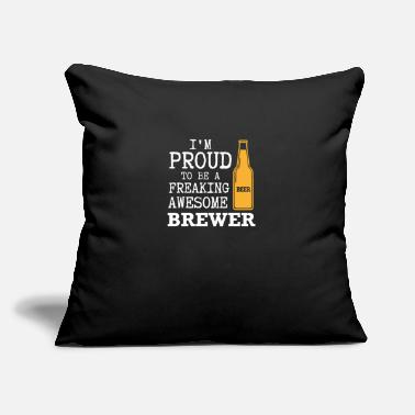 "Brewers Brewer - beer, alcohol, brewer - Throw Pillow Cover 18"" x 18"""