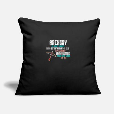 "Range Archery Archer Bow Arrow Shooting Shoot Sport Gift - Throw Pillow Cover 18"" x 18"""