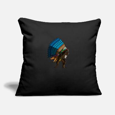 "Hindi American Indian Woman Indiana States Native Gift - Throw Pillow Cover 18"" x 18"""
