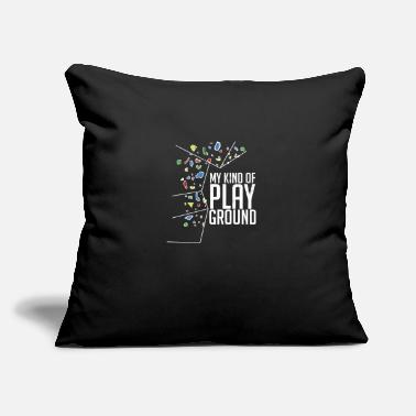 "Boulder Bouldering - Throw Pillow Cover 18"" x 18"""