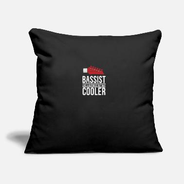 "Heavy Bassist vs Guitarist - bass, guitar - Throw Pillow Cover 18"" x 18"""