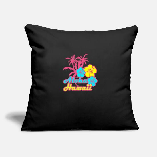 "Boyfriend Pillow Cases - Hawaii Aloha Hippie Surfer Vacation Funny Gift - Throw Pillow Cover 18"" x 18"" black"