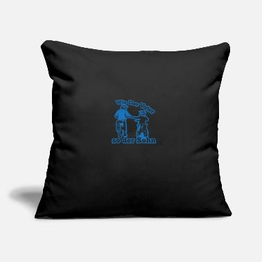 "Stunt Like father like son - Motocross Enduro - Throw Pillow Cover 18"" x 18"""