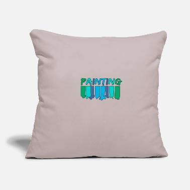 "Painting Painting - Throw Pillow Cover 18"" x 18"""