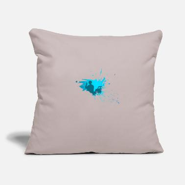 "Sit Painter sit - Throw Pillow Cover 18"" x 18"""