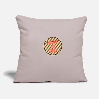"License Grill license - Throw Pillow Cover 18"" x 18"""