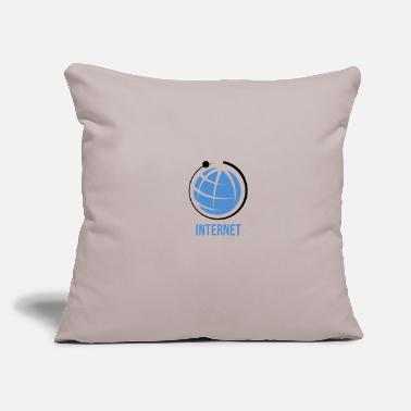 "Net Internet net - Throw Pillow Cover 18"" x 18"""