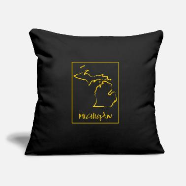 "State Michigan - Throw Pillow Cover 18"" x 18"""