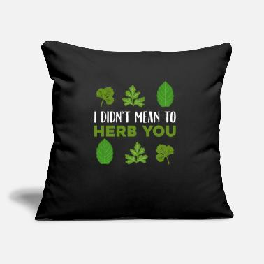 "Hobby Herb Loving Hobby Cook Out door Gardening - Throw Pillow Cover 18"" x 18"""