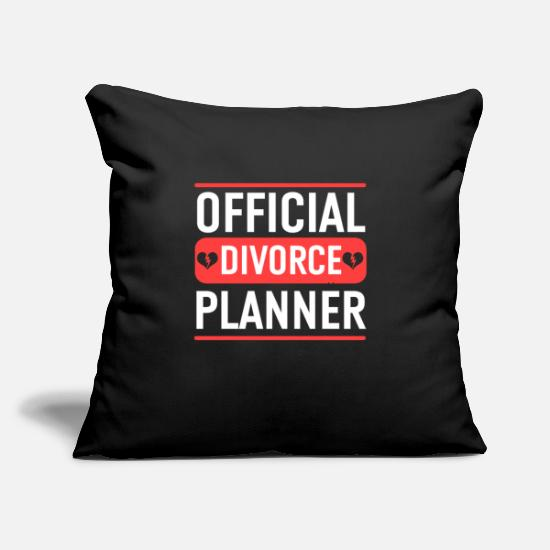 "Split Pillow Cases - Funny Recently Divorced Divorce print Party Gift - Throw Pillow Cover 18"" x 18"" black"
