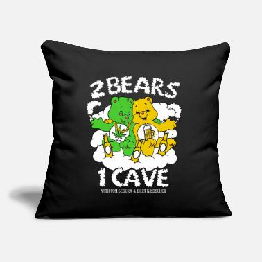 "Weed Tent 2 Bears 1 Cave Beer and Weed - Throw Pillow Cover 18"" x 18"""