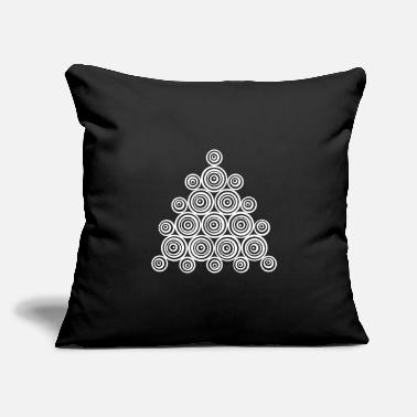 "Pyramid Abstract Design - Throw Pillow Cover 18"" x 18"""