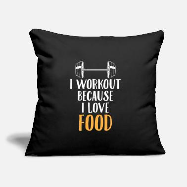 Workout Love Food Gym Workout Foodie Funny Gift - Throw Pillow Cover