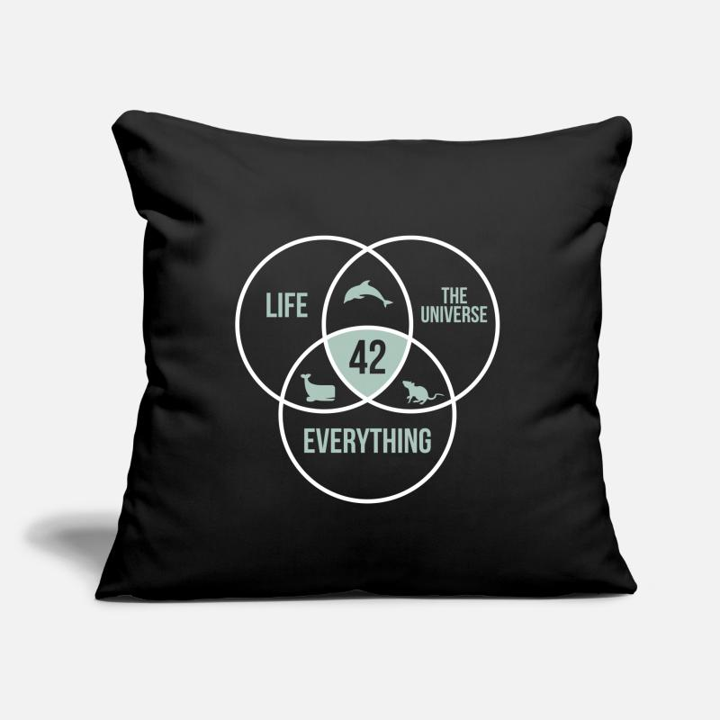 "Galaxy Pillow Cases - Universe Life Circle Cool Gift - Throw Pillow Cover 18"" x 18"" black"