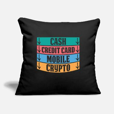 "Credit Card Funny Cash Mobile Money Credit Card Crypto Funny Gift - Throw Pillow Cover 18"" x 18"""