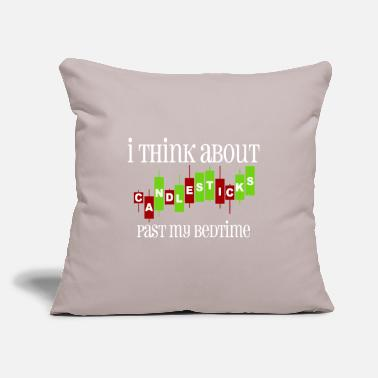 "Candlesticks Trading - Throw Pillow Cover 18"" x 18"""