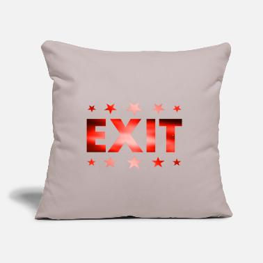 "Exit Exit - Throw Pillow Cover 18"" x 18"""