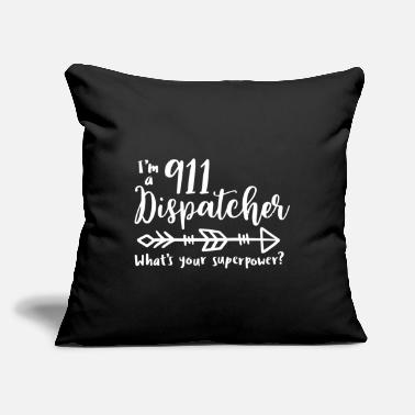 "Gold 9 1 1 dispatcher, responder, gold line - Throw Pillow Cover 18"" x 18"""
