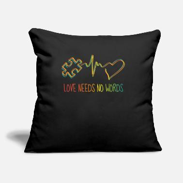 "Autism Awareness Autism Love Autism Gift - Throw Pillow Cover 18"" x 18"""