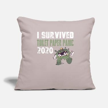 "Virus Toilet Paper Panic 2020 Survivor - Throw Pillow Cover 18"" x 18"""