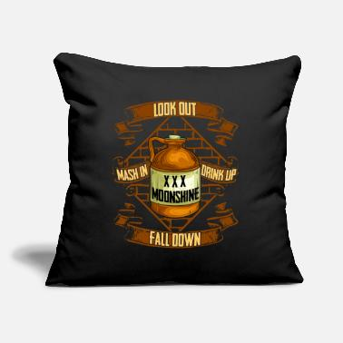 "Prohibited Moonshine is Life Alcohol Moonshiner Quote - Throw Pillow Cover 18"" x 18"""