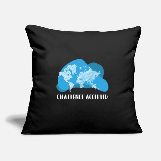"Planet Pillow Cases - World Challenge Accepted Climate Change Planet - Throw Pillow Cover 18"" x 18"" black"