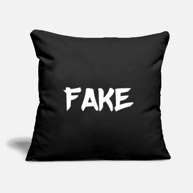 "Fake Fake - Throw Pillow Cover 18"" x 18"""